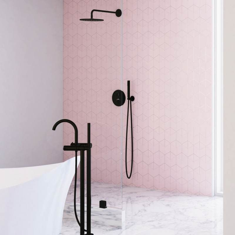 STEINBERG - Nástěnné sprchové rameno 450mm, černá mat  (100 7910 S)