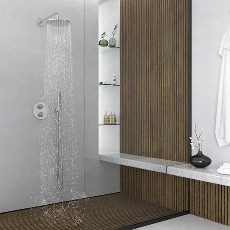 STEINBERG - Nástěnné sprchové rameno 450mm, kartáčovaný nikl  (100 7910 BN)