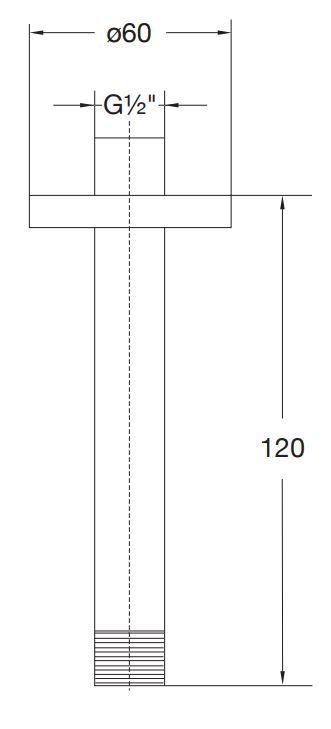 STEINBERG - Sprchové rameno 120 mm, chrom (100 1571)