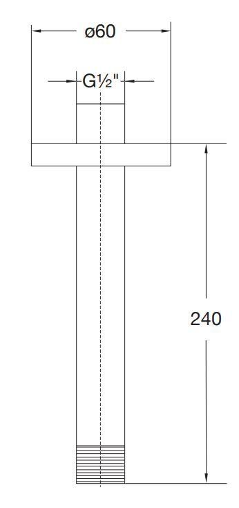 STEINBERG - Sprchové rameno 240mm, chrom (100 1581)