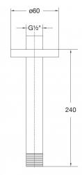 STEINBERG - Sprchové rameno 240mm, chrom (100 1581), fotografie 2/1