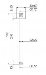 STEINBERG - Sprchové stropní rameno 240 mm, chrom (120 1581), fotografie 2/1