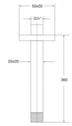STEINBERG - Sprchové rameno 360 mm, chrom (120 1591), fotografie 4/2