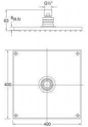 STEINBERG - Sprchová hlavice 400x400x8 mm, chrom (120 1689), fotografie 8/4