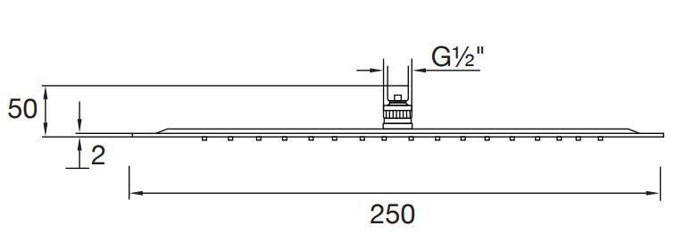 STEINBERG - Horní hlavová sprcha průměr 250 mm, chrom (390 1687)