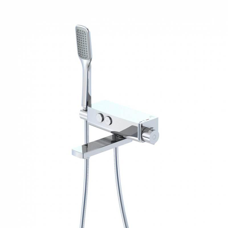 STEINBERG Nástěnná vanová termostatická baterie s příslušenstvím, chrom 390 3172