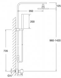 STEINBERG - Sprchový set jednopákový, chrom (160 2762), fotografie 6/3