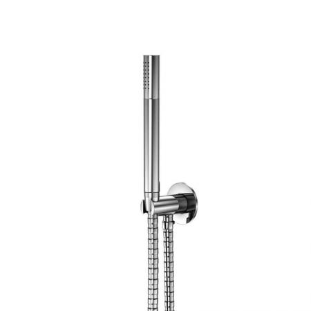 STEINBERG - Sprchová souprava, chrom (držák ruční sprchy s přívodem vody, ruční sprcha, kovová hadice) (100 1670)