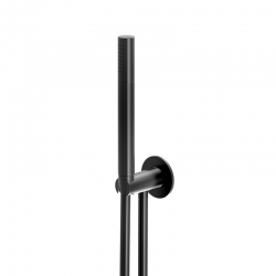 Sprchová souprava, černá mat (držák ruční sprchy s přívodem vody, ruční sprcha, plastová hadice) (100 1670 S) - STEINBERG