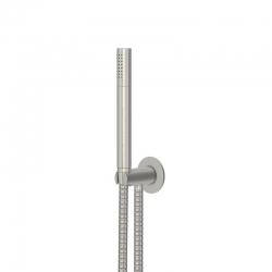 STEINBERG - Sprchová souprava, kartáčovaný nikl (držák ruční sprchy s přívodem vody, ruční sprcha, kovová hadice) (100 1670 BN)