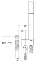 STEINBERG - Sprchová souprava, kartáčovaný nikl (držák ruční sprchy s přívodem vody, ruční sprcha, kovová hadice) (100 1670 BN), fotografie 8/4