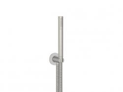 STEINBERG - Sprchová souprava, kartáčovaný nikl (držák ruční sprchy s přívodem vody, ruční sprcha, kovová hadice) (100 1670 BN), fotografie 4/4