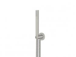 STEINBERG - Sprchová souprava, kartáčovaný nikl (držák ruční sprchy s přívodem vody, ruční sprcha, kovová hadice) (100 1670 BN), fotografie 2/4