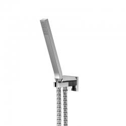 Sprchová souprava, chrom (držák ruční sprchy s přívodem vody, ruční sprcha, kovová hadice) (135 1670) - STEINBERG