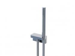 Sprchová souprava, chrom (držák ruční sprchy s přívodem vody, ruční sprcha, kovová hadice) (230 1670) - STEINBERG