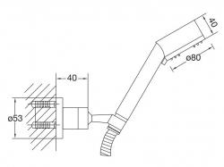 STEINBERG - Sprchová souprava, chrom (nástěnný držák, ruční sprcha 3 funkce, hadice) (100 1626), fotografie 10/5