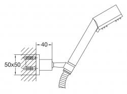 STEINBERG - Sprchová souprava, chrom (nástěnný držák, ruční sprcha 3 funkce, hadice) (120 1626), fotografie 2/1
