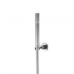 Sprchová souprava, chrom (nástěnný držák, ruční sprcha, kovová hadice) (100 1650) - STEINBERG
