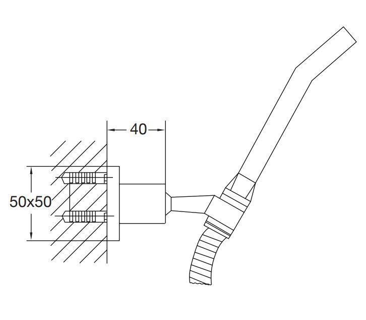 STEINBERG - Sprchová souprava, chrom (nástěnný držák, ruční sprcha, kovová hadice) (120 1650)