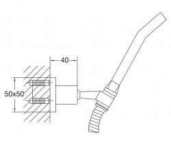 STEINBERG - Sprchová souprava, chrom (nástěnný držák, ruční sprcha, kovová hadice) (120 1650), fotografie 10/5