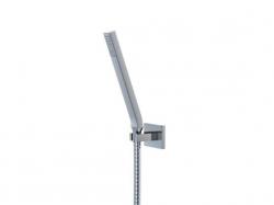 Sprchová souprava, chrom (nástěnný držák, ruční sprcha, kovová hadice) (135 1650) - STEINBERG