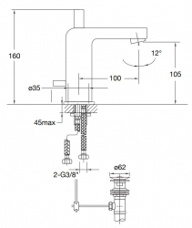 STEINBERG - Umyvadlová páková baterie s výpustí, chrom (120 1000), fotografie 22/11