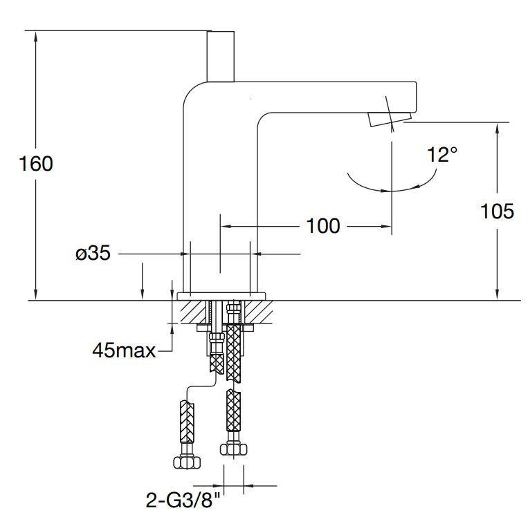 STEINBERG - Umyvadlová baterie bez výpusti, chrom (120 1010)