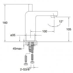 STEINBERG - Umyvadlová baterie bez výpusti, chrom (120 1010), fotografie 14/7
