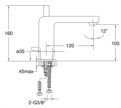 STEINBERG - Umyvadlová páková baterie bez výpusti, chrom (120 1025), fotografie 16/8