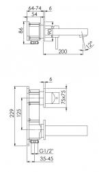 STEINBERG - Nástěnná umyvadlová baterie bez montážního tělesa, chrom (120 1814), fotografie 12/6