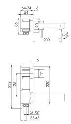 STEINBERG - Podomítková umyvadlová baterie - dvoucestná, bez montážního tělesa, chrom (120 1864), fotografie 10/5
