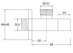 """STEINBERG - Rohový ventil 1/2""""(120 1640), fotografie 10/5"""