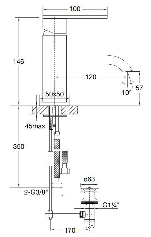 STEINBERG - Umyvadlová páková baterie (135 1001)