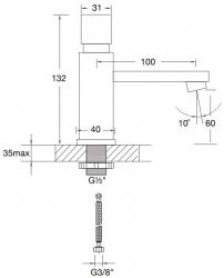Stojánkový ventil na studenou vodu (160 2500) - STEINBERG, fotografie 14/7