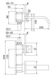 STEINBERG - Nástěnná umyvadlová baterie bez montážního tělesa, chrom (135 1814), fotografie 12/6