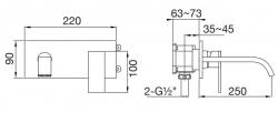 STEINBERG - Nástěnná umyvadlová baterie bez montážního tělesa, chrom (135 1824), fotografie 12/6