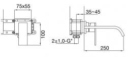STEINBERG - Nástěnná umyvadlová baterie bez montážního tělesa, chrom (135 1874), fotografie 12/6