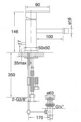 STEINBERG - Bidetová stojánková baterie s výpustí, chrom (160 1300), fotografie 12/6