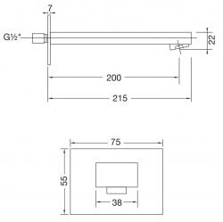 Umyvadlový/ vanový výtok 200 mm (160 2310) - STEINBERG, fotografie 14/7