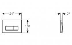 AKCE/SET/GEBERIT - Duofix Sada pro závěsné WC 458.103.00.1 + tlačítko DELTA51 BÍLÉ + WC CERSANIT ARES + SEDÁTKO (458.103.00.1 51BI AR1), fotografie 2/8