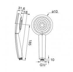 STEINBERG - Ruční sprcha 110x240 mm (100 1655), fotografie 4/2