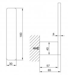 Držák na náhradní toaletní papír (420 2850) - STEINBERG, fotografie 10/5