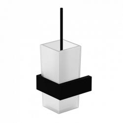 WC štětka, matné bílé sklo, černá mat  (460 2903 S) - STEINBERG