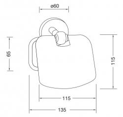 Držák toaletního papíru (650 2800) - STEINBERG, fotografie 14/7