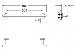 Držák na osušku (650 2600) - STEINBERG, fotografie 10/5