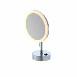 LED kosmetické zrcátko se stojánkem, chrom (650 9300) - STEINBERG