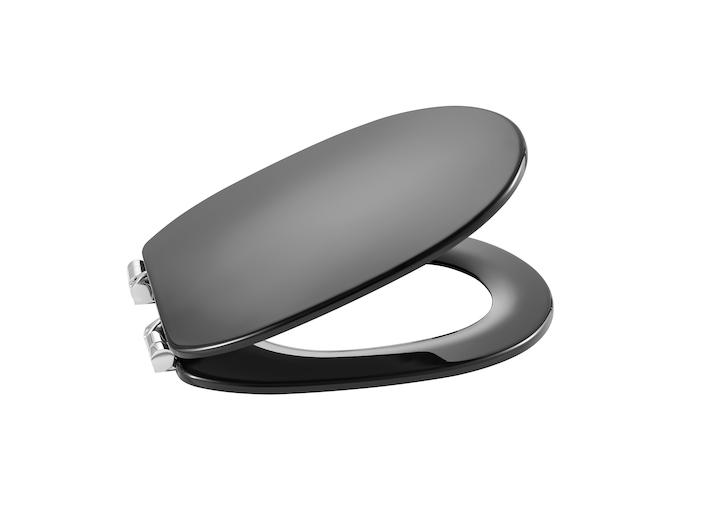 ROCA - WC sedátko s poklopem CARMEN slowclose, šedé antracit (A801B5238B)