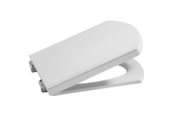 ROCA - Sedátko s poklopem HALL COMPACT, nerezové úchyty (A801620004)