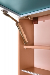 Amsterdam umyvadlová skříňka šíře 60, 1x šuplík, metallic +umyvadlo + galerka (CA.U1B.133.060UMG) - VÝPRODEJ, fotografie 4/13