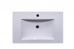 CEDERIKA - Amsterdam umyvadlová skříňka šíře 75, 1x šuplík, metallic +umyvadlo + galerka + sloupek (CA.U1B.133.075UMGS), fotografie 8/13